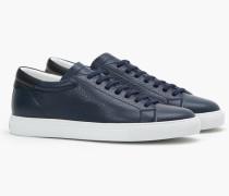 Sneaker aus Nappaleder navy