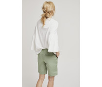 Shorts aus Baumwoll-Stretch leaves
