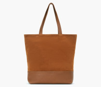 Tote Bag aus Leder Mix amber