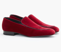 Loafers aus Samt bordeaux