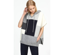 Alpaka Mix Poncho light grey melange