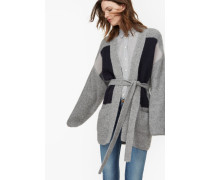 Baby Alpaka Cardigan light grey melange