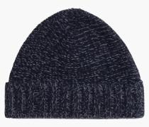 Mütze aus Mouliné navy