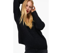 V-Pullover aus Royal Baby Alpaka Mix black