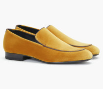 Loafers aus Samt gold
