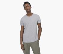 T-Shirt mit Rundhalsausschnitt light grey melange