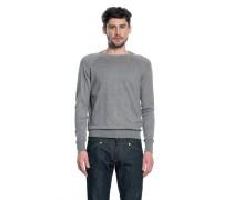 Baumwoll Pullover light grey melange