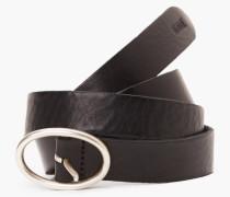 Ledergürtel mit Metallschließe black