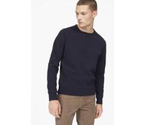 Baumwoll Sweatshirt navy
