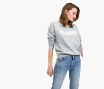 Sweatshirt mit -Logo light grey melange