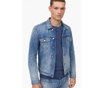 Jeansjacke aus Indigo Denim