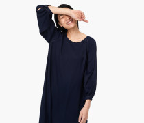 Kleid aus Viskose-Twill navy