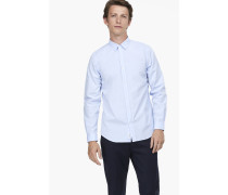 Hemd aus Baumwoll-Popeline sky blue