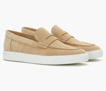 Slip On Loafer aus Veloursleder dune