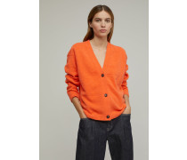 V-Cardigan strong coral