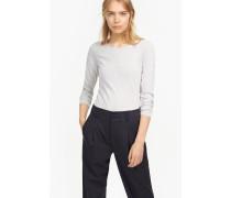 Vintage Melange Langarmshirt lilac grey