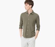 Jerseyhemd aus Pima Baumwolle guerilla green