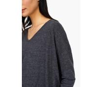 Langarmshirt aus Melange Jersey dark grey melange