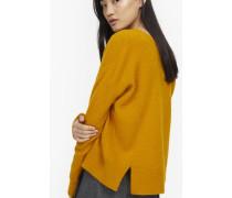 Pullover aus Alpaka Mix yellow poppy