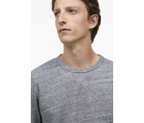 Sweatshirt in Melange-Optik grey dust melange