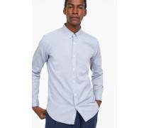 Button Down Hemd aus Melange-Oxford sky blue