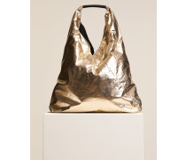 Hobo Bag aus beschichteter Baumwolle silver gold