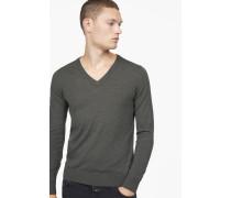Pullover aus reiner Merinowolle shadow green