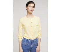 Cardigan aus Leinen und Baumwolle mellow yellow