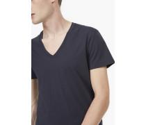 T-Shirt mit V-Ausschnitt navy