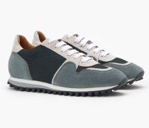 Runner im Materialmix hamptons green