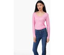 Luxury Basic Langarmshirt flamingo pink