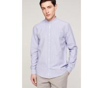 Stehkragen Hemd indigo blue