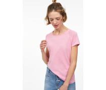 T-Shirt aus Melange Jersey flamingo pink