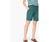 Shorts aus Baumwoll Stretch lorbeer green