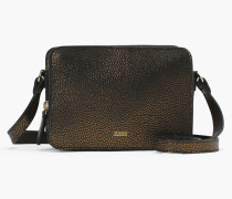 Boxy Ledertasche old gold matt