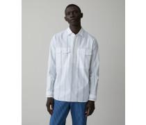 Half Placket Shirt white