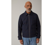 Checked Italian Fabric Jacket dark night
