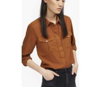Hemd aus Baumwolle und Kaschmir amber