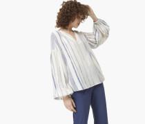 Oversized Bluse mit Streifen creme