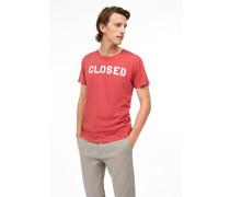 T-Shirt mit -Logo vermillion