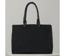 Canvas Bag mit Leder-Details