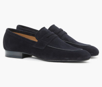 Loafers aus Veloursleder dark denim blue