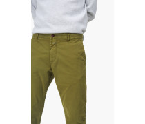 Clifton Slim Stretched Pima Chino tropical green