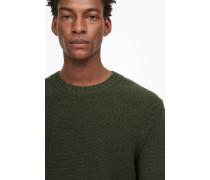 Strickpullover aus zweifarbigem Mouliné shadow green