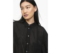 Oversized Bluse mit Nadelstreifen black