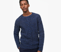 Strickpullover mit Muster utility navy