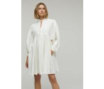 Kleid aus Baumwolle & Leinen