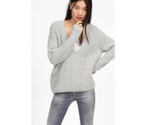 Alpaka Pullover light grey melange