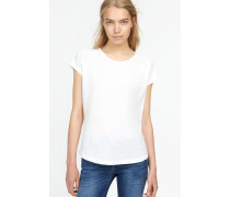 T-Shirt aus softem Melange Jersey blanched almond