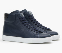 High Top Sneaker aus Nappaleder navy